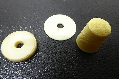 ANTIQUE VICTORIAN SEWING FINE SPOOL DISKS - OLD THIMBLE