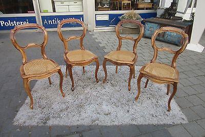 4 Stühle Louis Phillipe Nussbaum um 1860