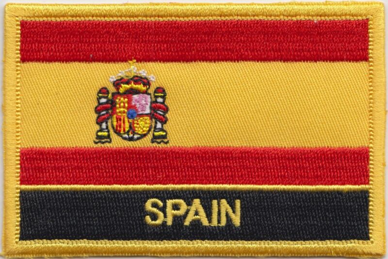Spain State Flag Embroidered Patch - Sew or Iron on