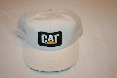 VINTAGE  CAT Caterpillar Diesel Power Trucker Hat Snapback Cap USA Made