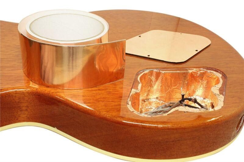 "Copper Foil Shielding Tape w/ Conductive Adhesive Guitar Bass 2"" x 18"