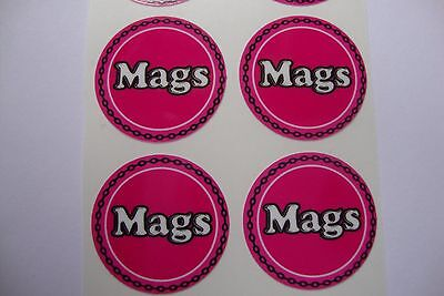 """12   Mags  CROWN GREEN STICKERS  1""""   LAWN BOWLS FLATGREEN  AND INDOOR BOWLS"""