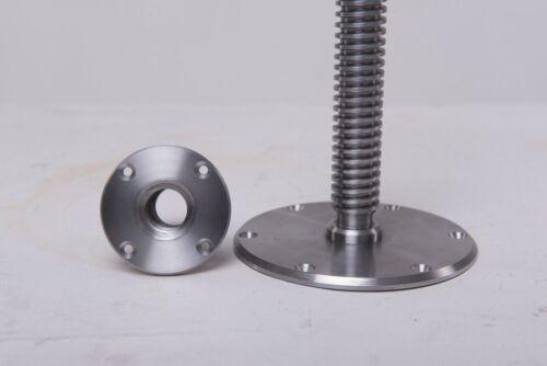 Piano stool screw mechanism