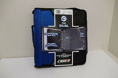 New Case-it Dual-121-4 1 1.5 3 Capacity 3-ring Binder 2 Lots Of Storage