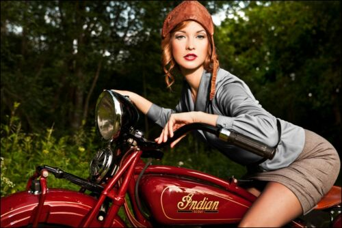Indian Motorcycle pin up Banner 4