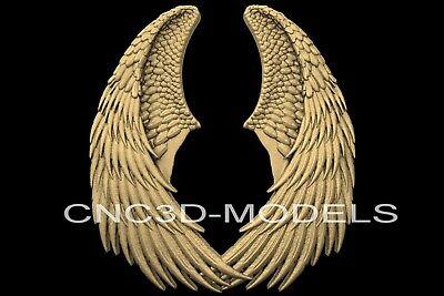 3d Model Stl For Cnc Router Engraver Carving Artcam Aspire Wings Lap Wing N602