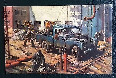 Original LAND ROVER Series 1 CUNEO Colour Postcard  Brochure Parts Art 1950s