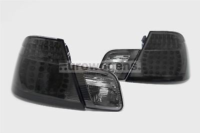 BMW 3 Series E46 98-03 Coupe LED Smoked Rear Tail Lights Lamps Pair Left Right