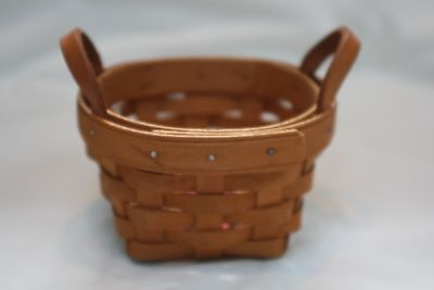 Longaberger Small Round Basket   Thyme Booking Basket   1997