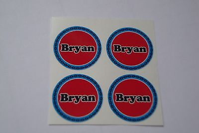 """12  Bryan  CROWN GREEN STICKERS  1""""   LAWN BOWLS FLATGREEN  AND INDOOR BOWLS"""
