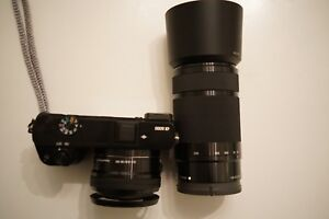 Sony a6000 16-50mm kit lens, and 55-210mm telephoto zoom
