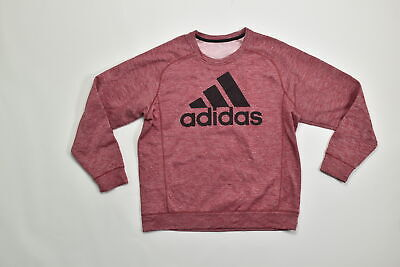 Men's Adidas ClimaWarm Crew Neck Regular XL Polyester Red Sweater  Sanded