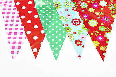 Bunting Shabby Chic Vintage Weatherproof Party Decoration Birthday Baby 10 Metre - Shabby Chic Birthday Party Decorations
