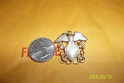 US Navy Officers  Sterling Silver & GF Pin
