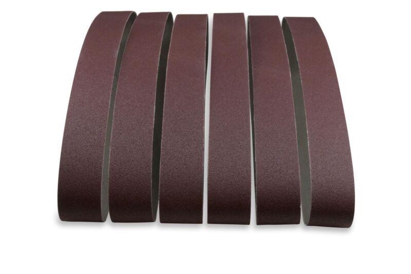 2 X 36 Inch 60 Grit Aluminum Oxide Premium Quality Metal Sanding Belts, 6 Pack