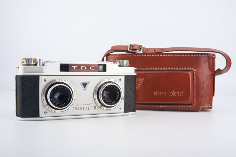 TDC Stereo Colorist II 35mm Rangefinder Film Camera with Original Case NR MINT
