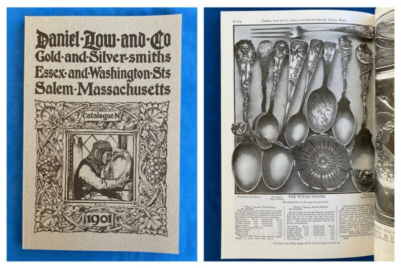 1901 Daniel Low Catalog Jewelry Flatware Sterling Gold Gorham Durgin Salem Witch
