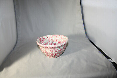 Roseville Workshops of Gerald E. Henn Blue Red Spongeware Small Mixing Bowl