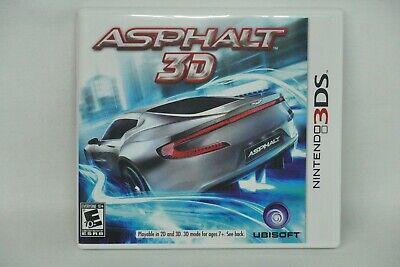 Asphalt 3D (Nintendo 3DS, 2011) Complete US/Canada