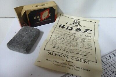ANTIQUE BOXED SIMPSON BLACK ERASIVE SOAP MYER CHEMIST PHARMACY MELBOURNE SIGN