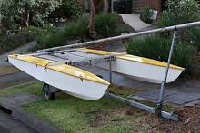 14ft Paper Tiger Catamaran Yellow Sailboat Doncaster East Manningham Area Preview