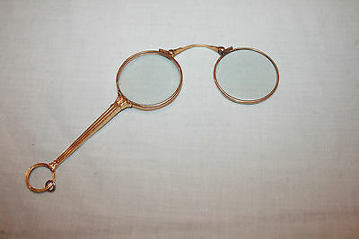 Antique 14K YELLOW GOLD OPERA GLASSES FINE JEWELRY With Lenses