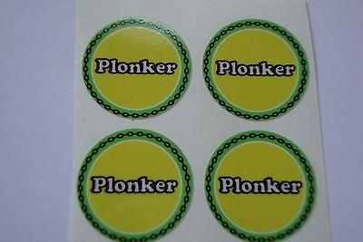 """12  Plonker CROWN GREEN STICKERS  1""""   LAWN BOWLS FLATGREEN  AND INDOOR BOWLS"""