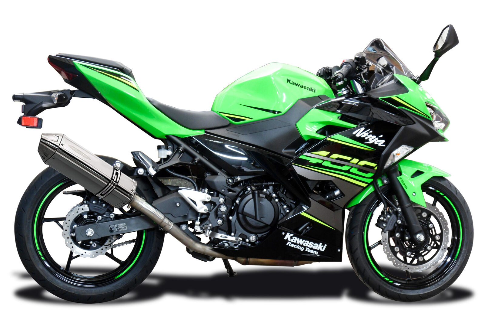 Delkevic Aftermarket Slip On compatible with Kawasaki ZX-6R Ninja /& 636 Stubby 13 Stainless Steel Tri-Oval Muffler Exhaust 09-19