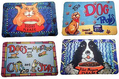 Dog & Cat Funny Pet Food and Water Bowl Mats 17
