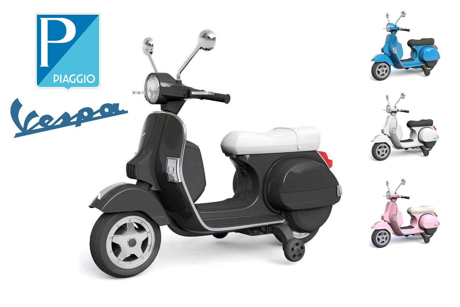 Piaggio Vespa Roller Scooter Kinder Motorrad mit Stützräder Elektro Auto 2x 20W