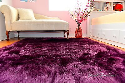Faux Fur Rugs Nursery Area Rugs Home Accents Decor Lavender Shaggy Rectangle - Lavender Nursery Rug