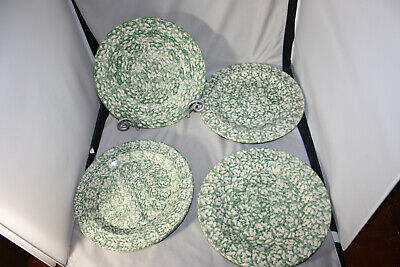 Roseville Workshops of Gerald E. Henn   Green Spongewear  Dinner Plate