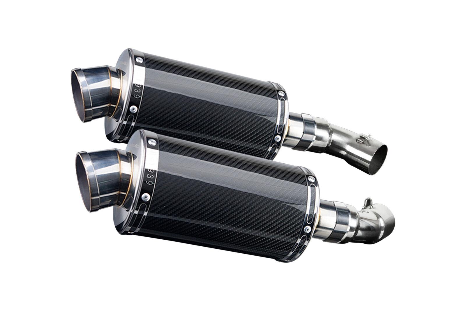 "Yamaha FZ6R Full Exhaust 9/"" Stainless Oval Muffler 09 10 11 12 13 14 15 16 17"
