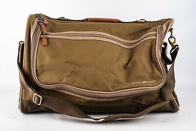 Eddie Bauer Duffle Bag Carry On Garment Travel Luggage Olive 21x13x10 V13 - $45.31