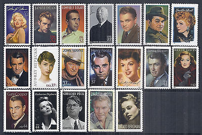 Legends of Hollywood Complete Set of 19 - 1995-2015 - MNH, Post Office Fresh*