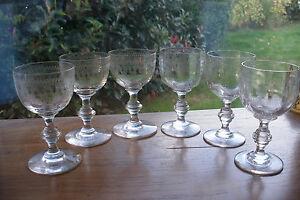 6 anciens verres liqueur en cristal de baccarat xixe d cor frise grecque - Verres anciens en cristal ...