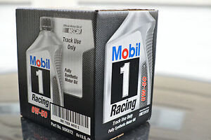 Free Shipping Mobil 1 Racing Oil- 1 Case 6 Quarts 0W-50  Racing Oil (In Stock)