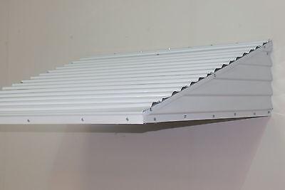 "Aluminum  46"" wide X 36"" deep X15"" high White  awning   KIT"