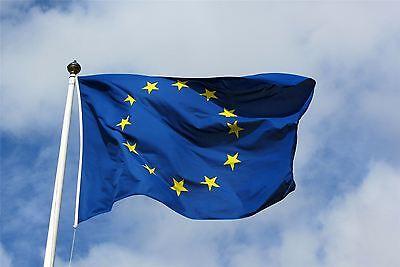 Europe European Union EU Flag Euro Blue with Yellow Stars Flag Banner 5 X 3 FT