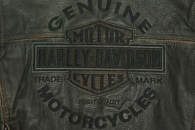 Harley Davidson ROADWAY Distress Brown Leather Jacket