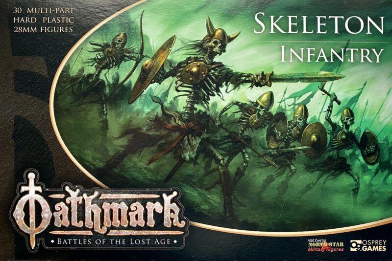 Oathmark Skeleton Infantry 28mm New • 1 Sprue • 5 Minis • Osprey Northstar