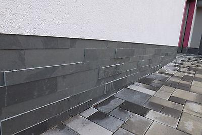 3 D Schiefer Verblender, Sockelverblender, Riemchen, Bricks, Naturstein,schwarz
