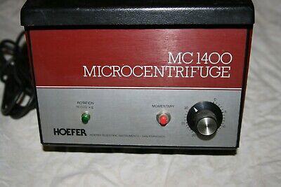 HOEFER MICROCENTRIFUGE MODEL MC1400 CENTRIFUGE Made in USA