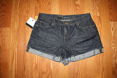NWT Womens Calvin Klein Short Shorts Dark Wash Rinse Cuffed Sz 6 Calvin Klein Womens Rinse