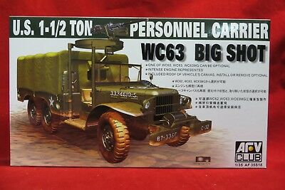 AFV Club AFV-AF35S18 1/35 US 1 1/2 Ton Personnel carrier WC63 Big Shot Truck