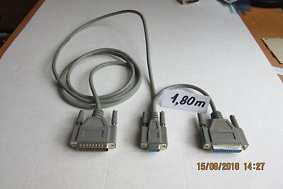 Cable  DB 25 mâle/femelle + DB 9 femelle   1,80 m