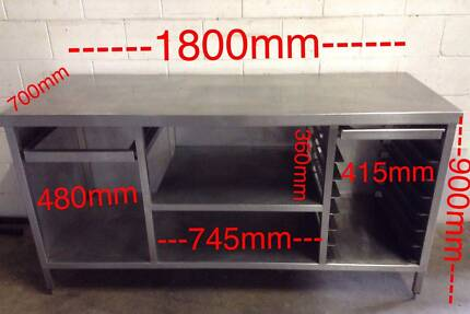 Kitchen Cafe Restaurant Bakers Front Counter Preparation Bench