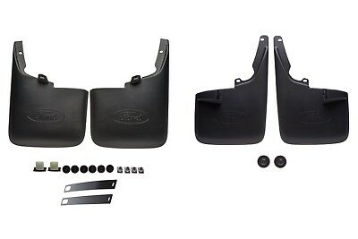 (2011-2016 Ford F250 F350 Super Duty Front & Rear Splash Guard Mud Flaps OEM NEW)