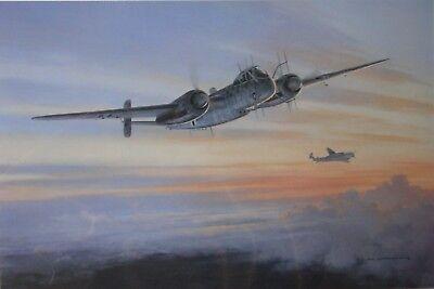 Mark Postlethwaite HUNTING OWLS He219 Signed Wolfgang FALCK KC Luftwaffe