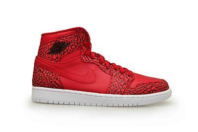 Herren Nike Air Jordan 1 Retro High 839115 600 Fitness Rot Weiß Turnschuhe ()